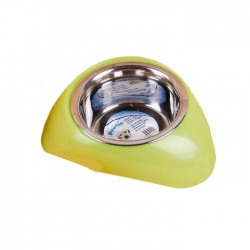 Pawise - 11022 SS Bowl W/Plastic Stands - Mama Kabı 750ml (Green)