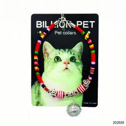 BillionPet - 202688 BillionPet Kediler için ZilliAksesuarlı Örgü Kedi Tasması