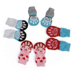 Little Friends - 202952-Ally Paws Köpekler İçin Kaymaz Tabanlı Çorap 4lü Medium