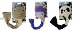 Afp - 4158 Dog Toys-Panda,Hippo,Squirrel (3 Asst)-LG - Köpek Oyuncağı