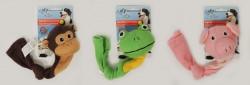 Afp - 4160 Dog Toys-Frog,Monkey,Pig -SM -Çoraplı Hayvanlı Köpek Oyuncağı
