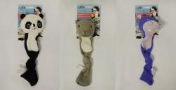 Afp - 4161 Panda,Hippo,Squirrel (3 Asst)-SM-Çoraplı Hayvanlı Köpek Oyuncağı