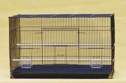 Wonderfull Pet - 422 Kuş Kafesi Salma (Siyah,Beyaz) - 60x42x42 cm.