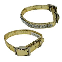Techlink - 48797-2 Pırlantalı Altın Kedi&Köpek Boyun Tasması 15mm/40 cm