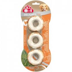 8IN1 - 8in1 Delights Rings Tavuklu Köpek Çiğneme Halkaları 3 lü 119 gr