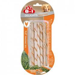 8IN1 - 8in1 Delights Twisted Sticks Tavuklu Burgu Çubuğu 10 lu 55 gr