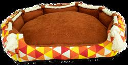 Mita - 90X80 Kahverengi Gala Evcil Hayvan Yatağı