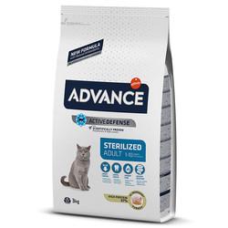 Advance - Advance Cat Sterilized Adult 1-10 Turkey&Barley - Hindili ve Arpalı Kısır Kedi Maması 3 Kg