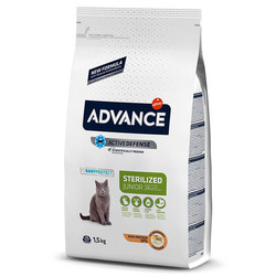 Advance - Advance Cat Sterilized Junior 24 - Tavuklu ve Pirinçli Genç Kısır Kedi Maması 1,5 Kg