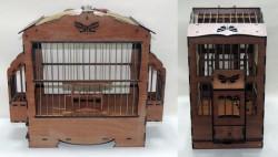 Fatih-Pet - Ahşap Saka Kafesi İşlemeli (17x42x34 cm)
