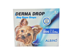 Albino - Albino Derma Drop Köpek 1-10Kg Ense Damlası 5x1gr