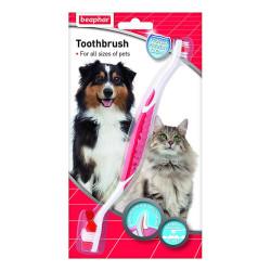 Beaphar - Beaphar İki Uçlu Köpek Diş Fırçası 22 cm