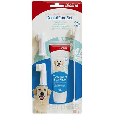 Bioline Dental Care Set Köpek Diş Bakım Seti 4 in 1