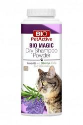 BioPetActive - BioPetActive Bio Magic Dry Shampoo Powder - Kedi Toz Şampuan 150 Gr