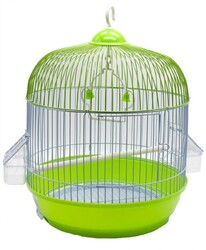 BirdLife - Birdlife 9001-1 Boyalı Silindir Kuş Kafesi 33,5x44,5cm