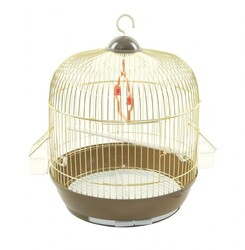 BirdLife - Birdlife Pirinç Silindir Kuş Kafesi 33,5x44,5cm