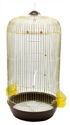 BirdLife - Birdlife Pirinç Silindir Kuş Kafesi 33,5x71cm