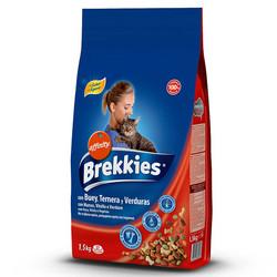 Brekkies - Brekkies Cat Buey Ternera Verduras Mix Beef - Mix Dana Etli ve Sebzeli Kedi Maması 1,5 Kg