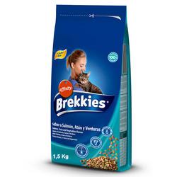 Brekkies - Brekkies Cat Sabora Salmon - Mix Balıklı ve Sebzeli Kedi Maması 1,5 Kg