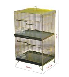 Getreide - C491 İki Katlı Lüks Sarı Galv.Salma Kafes 50x40x89 cm