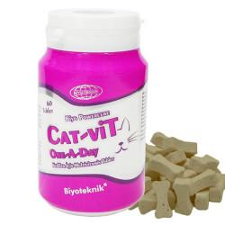 Biyoteknik - Cat-Vit One A Day - Multivitamin (60 Tablet)