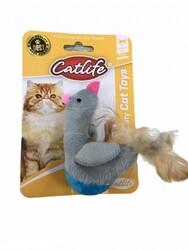 CatLife - CATLIFE 203093 Tüylü Hacıyatmaz Sevimli Kuş Kedi Oyuncağı
