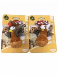 CatLife - CATLIFE 203095 Tüylü Hacıyatmaz Sevimli Kuş Kedi Oyuncağı