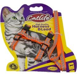 CatLife - Catlife Reflektörlü Fosforlu Göğüs Tasması Gezdirme