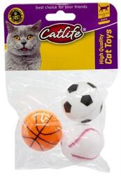 CatLife - CATLIFE Zilli Top Kedi Oyuncağı 3lü Paket