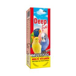 Deepfix - Multisol Kuşlar için Multivitamin 30 ml