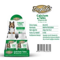 DogLife - DLCA13-DogLife Calcium Kalsiyum Tableti 42 tablet