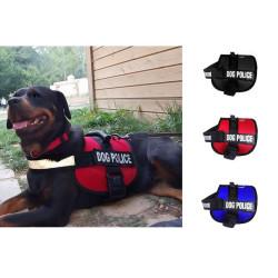 - Dog Police Köpek Göğüs Tasması Large