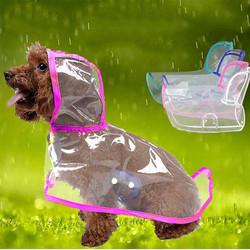 Doggo - Küçük Irk Buzlu Şeffaf Köpek Yağmurluğu Pembe XL