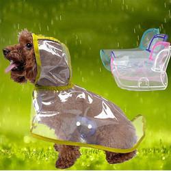 Doggo - Küçük Irk Buzlu Şeffaf Köpek Yağmurluğu Sarı S