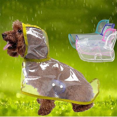 Küçük Irk Buzlu Şeffaf Köpek Yağmurluğu Sarı S