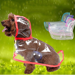 Doggo - DOGGO Küçük Irk Şeffaf Köpek Yağmurluğu Kırmızı M