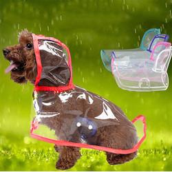 Doggo - Küçük Irk Şeffaf Köpek Yağmurluğu Kırmızı XL