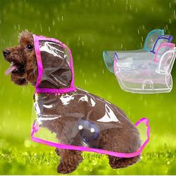 Doggo - Küçük Irk Şeffaf Köpek Yağmurluğu Pembe XL