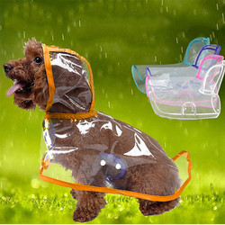 Doggo - DOGGO Küçük Irk Şeffaf Köpek Yağmurluğu Turuncu S