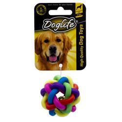 DogLife - DOGLIFE 202280 Köpekler için Plastik Coloured Ball (S) Zilli Örgü Oyuncak