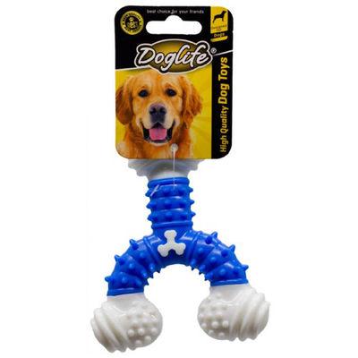 DOGLIFE 202450 Köpekler için Kauçuk Dental Bone Oyuncak Y