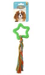 DogLife - DOGLIFE Köpekler için İpli Star Oyuncak