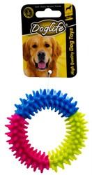 DogLife - DOGLIFE Köpekler İçin Kauçuk Dikenli Ring Oyuncak