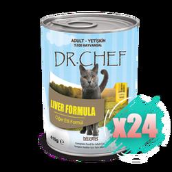 DrChef - DrChef Kedi Ciğerli Konserve 415 gr24 lü