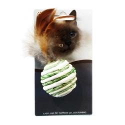 Eastland - Eastland Tüylü Doğal Kedi Oyuncağı Top Çap 4,5 cm