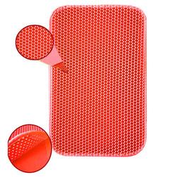 Fatih-Pet - Elekli Kedi Tuvalet Paspası Kırmızı 60x45 cm