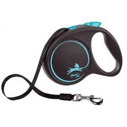 Flexi - Flexi Black Design 5 m Şerit Tasma L Mavi