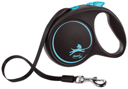 Flexi - Flexi Black Design 5 m Şerit Tasma M Mavi