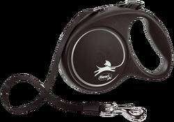 Flexi - Flexi Black Design 5 m Şerit Tasma M Siyah