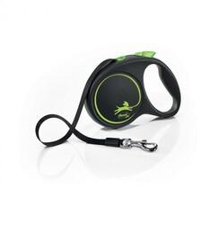 Flexi - Flexi Black Design 5 m Şerit Tasma M Yeşil